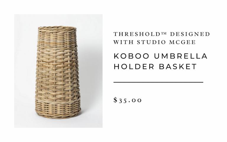 Threshold™ designed with Studio McGee Koboo Umbrella Holder Basket