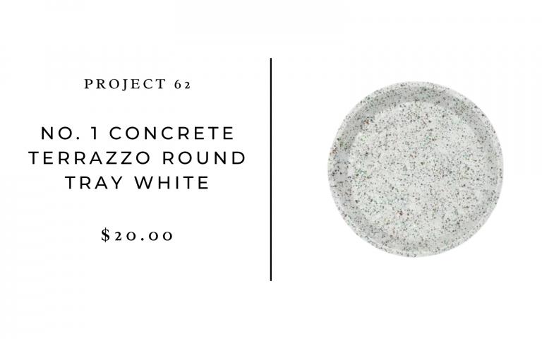 Project 62 No.1 Concrete Terrazzo Round Tray White