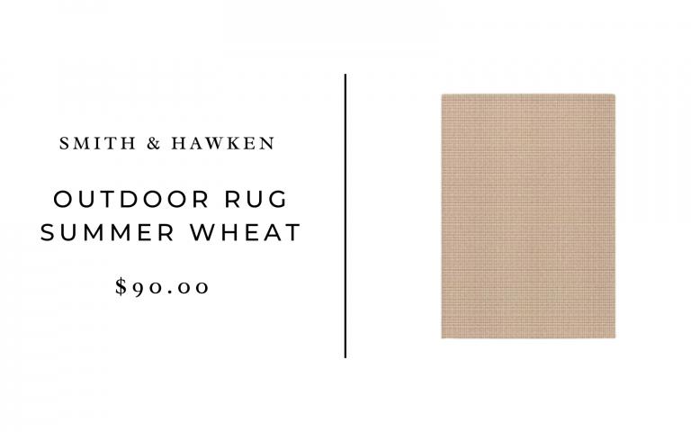 Smith & Hawken Outdoor Rug Summer Wheat