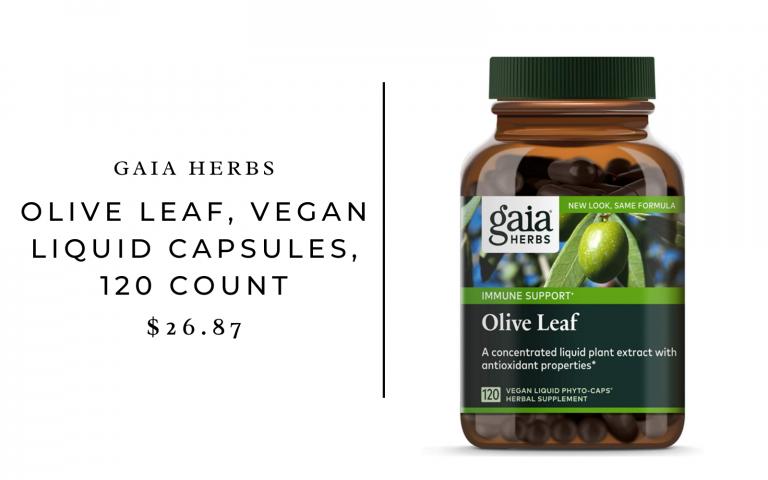 Gaia Herbs Olive Leaf, Vegan Liquid Capsules, 120 Count