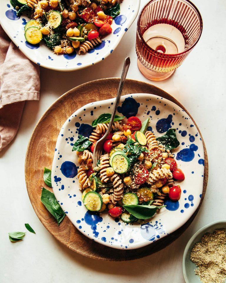 vegan summer garden pasta recipe