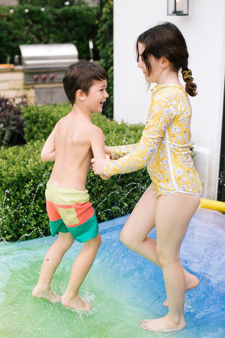 slip and slide, summer fun, kids