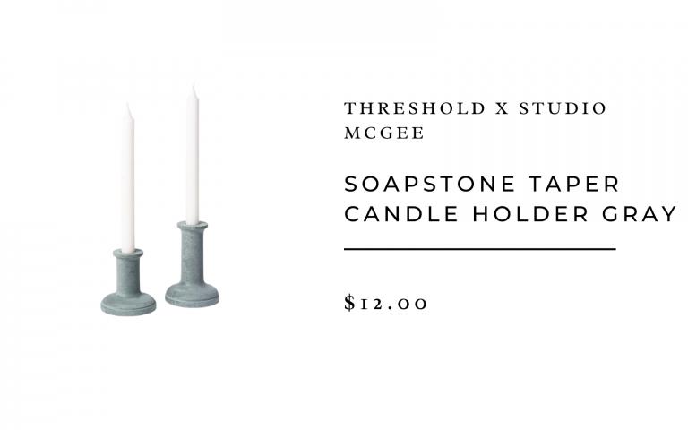 sopastone candle holder - simple place setting ideas