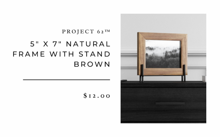 """Project 62 5""""x7"""" Natural Frame with Stand - Brown"""
