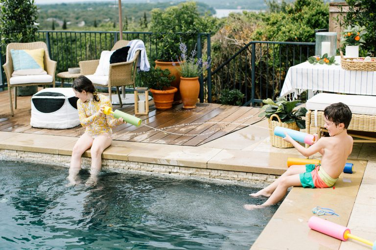 slip and slide, summer fun, kids, goggles, water gun