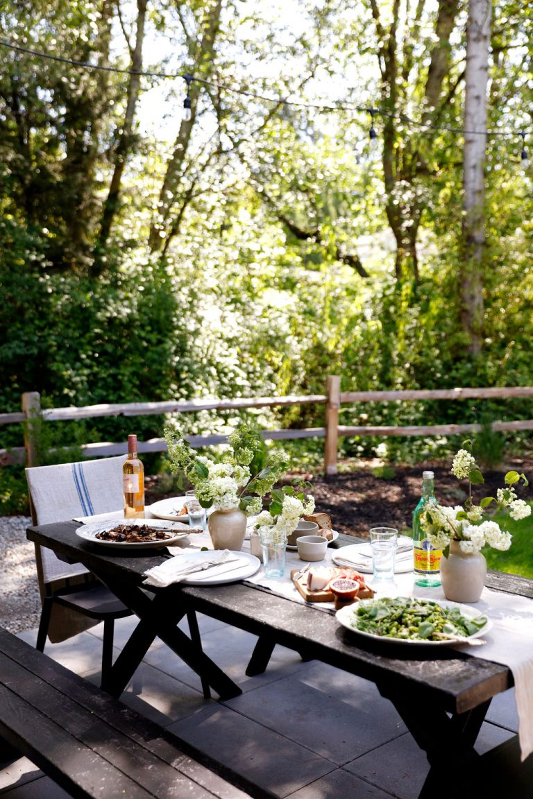At Home With Kennesha Buycks, Restoration House Blog, outdoor summer dinner party, tabletop