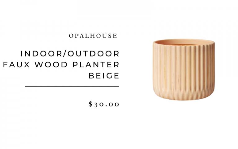 "Opalhouse 10.25"" Indoor/Outdoor Faux Wood Planter Beige"