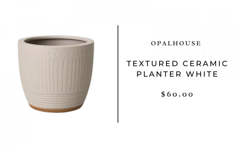 Opalhouse Textured Ceramic Planter White