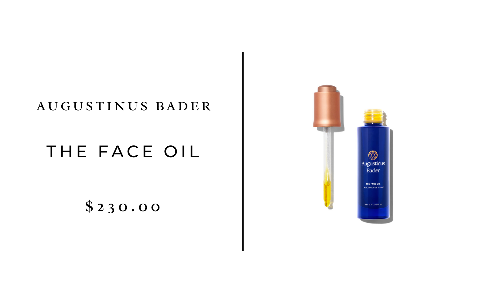 Augustinus Bader The Face Oil