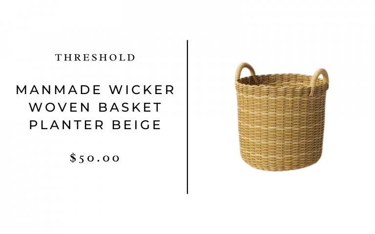 Threshold Round Decorative Basket Natural