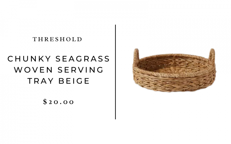 chunky seagrass woven serving tray beige - simple place setting ideas