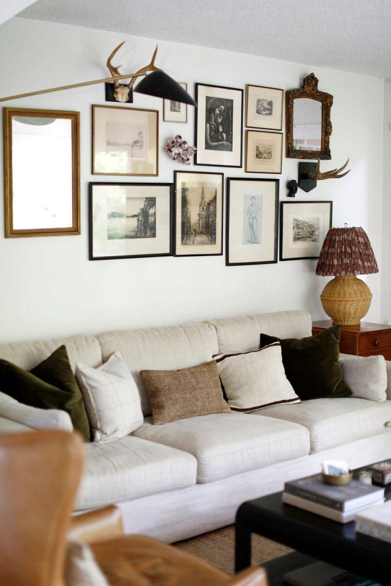 At Home With Kennesha Buycks, Restoration House Blog, BIPOC designer, living room, gallery wall