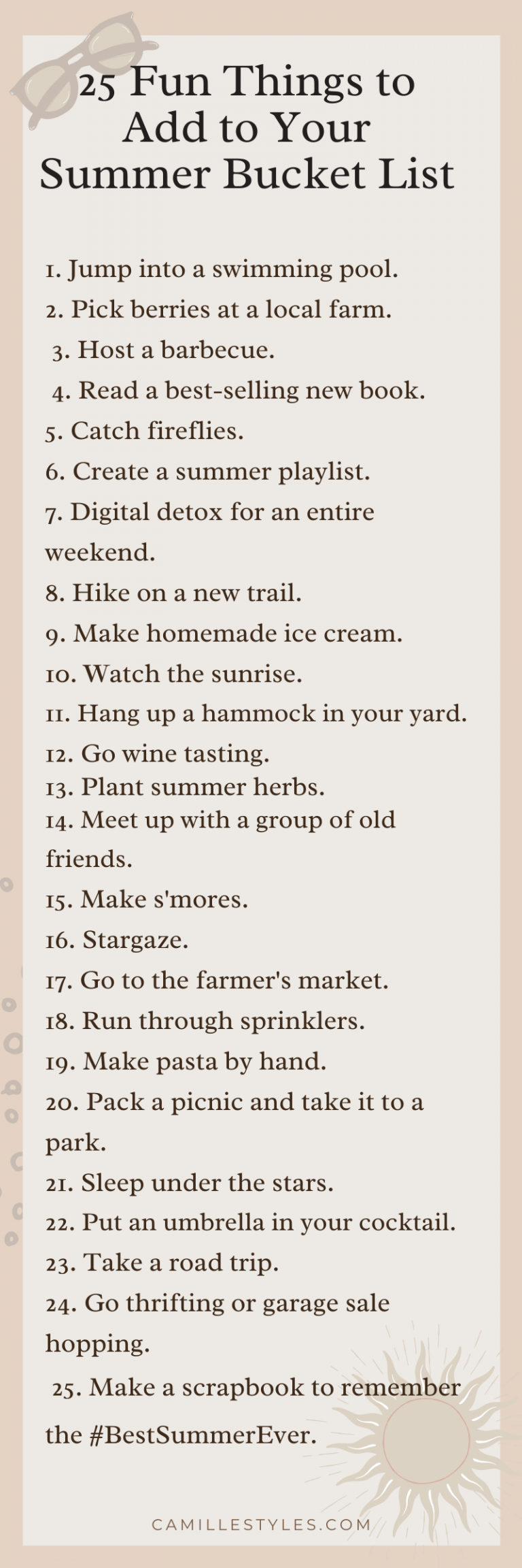 Summer Bucket List 20 Fun Things to Do This Summer