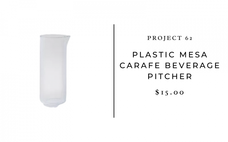 Project 62 37oz Plastic Mesa Carafe Beverage Pitcher