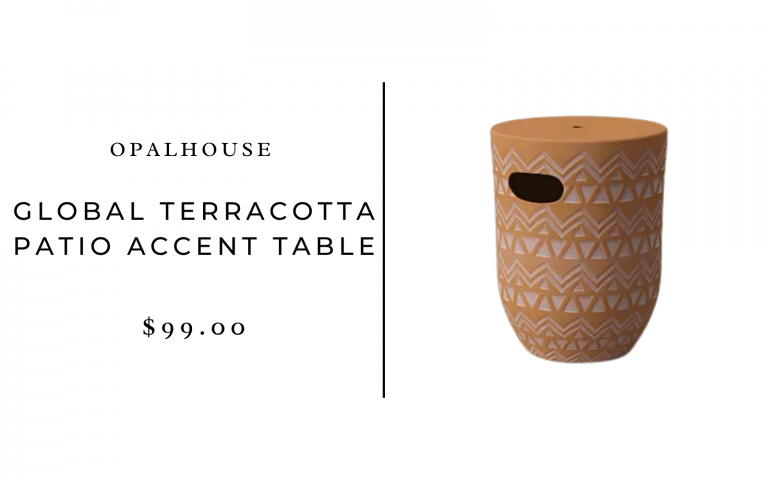 Opalhouse Global Terracotta Patio Accent Table