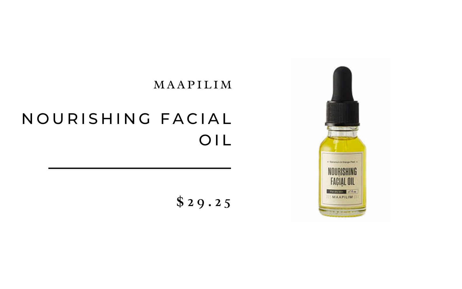 Maapilim Nourishing Facial Oil