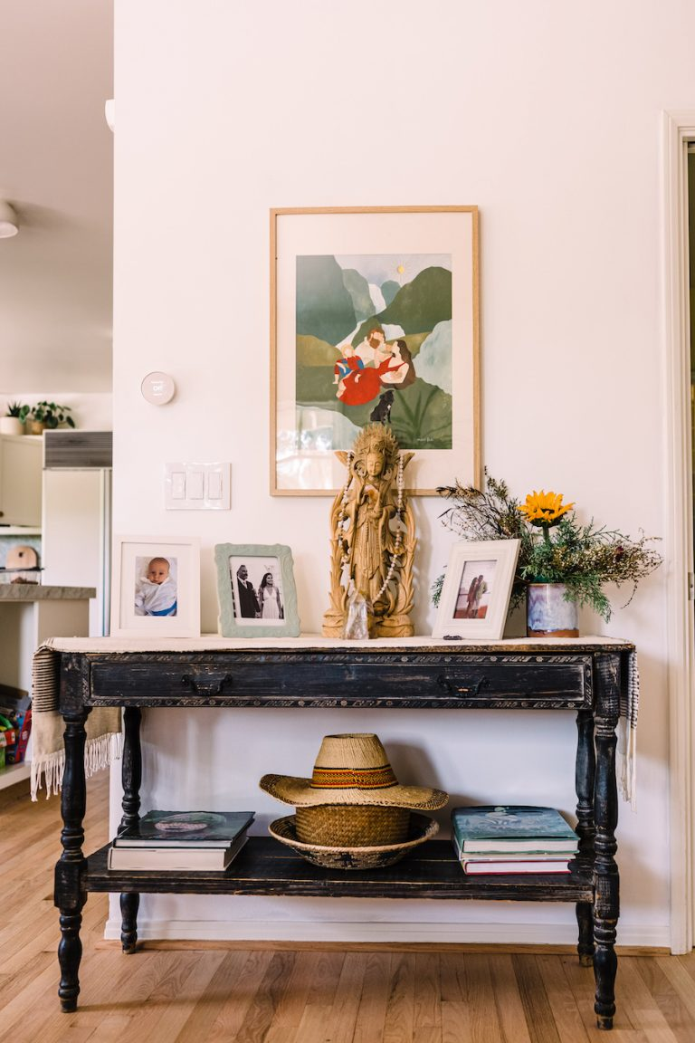 Kimberly Snyder's Home, welcome entry console table