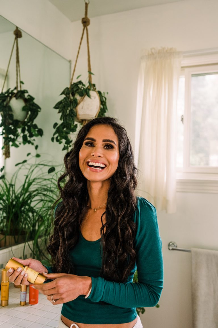 Soluna skincare, Kimberly Snyder's morning routine, beauty, bathroom
