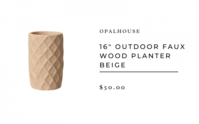 "Opalhouse 16"" Outdoor Faux Wood Planter Beige"