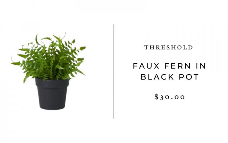 Threshold Faux Fern in Black Pot