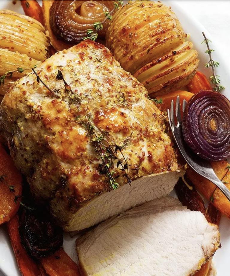 Honey Mustard Roasted Pork Loin — Eat Well 101