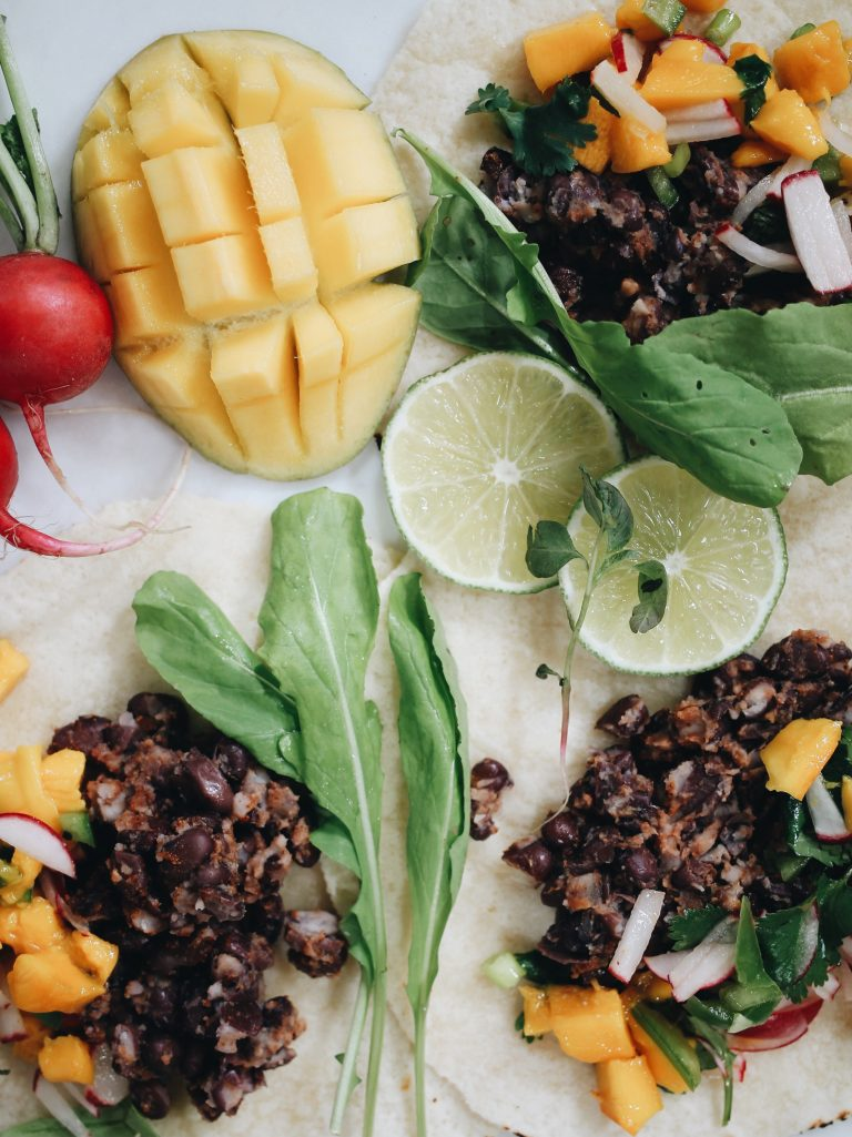These Black Bean Tacos with Mango Salsa Are Truly Perfect (You Won't Miss the Meat)