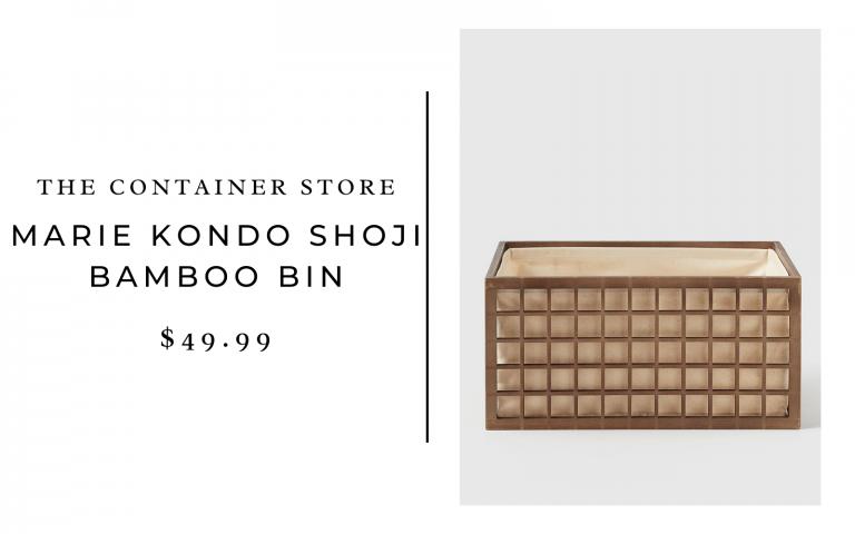 The Container Store Marie Kondo Shoji Bamboo Bin