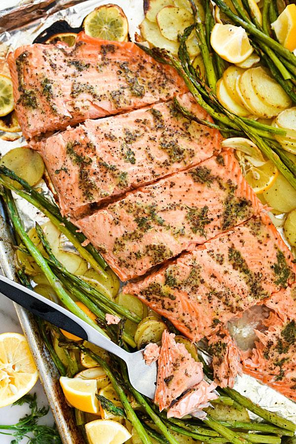 Mustard Salmon Dinner — Foodie Crush