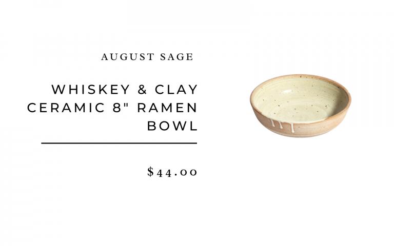 whiskey & clay ceramic ramen bowl- simple place setting ideas