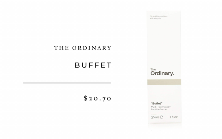 The Ordinary Buffet-best peptide cream for budget