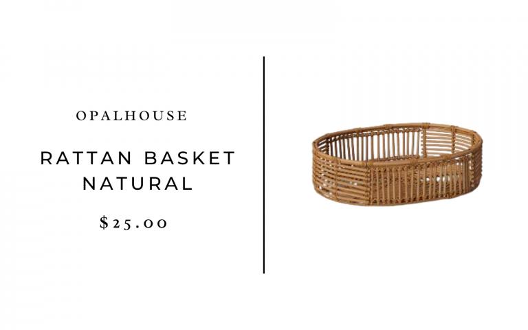 Opalhouse Rattan Basket Natural