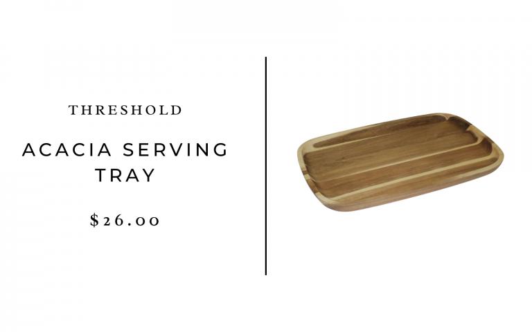 """Threshold 20"""" x 13"""" Acacia Serving Tray"""