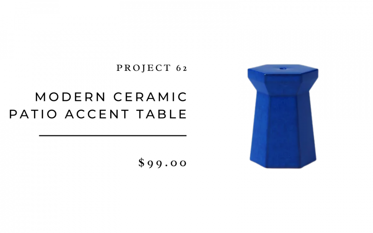 Project 62 Modern Ceramic Patio Accent Table in Blue