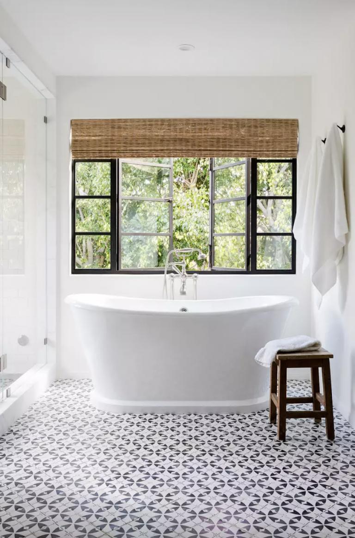 Bathtub with Tiled Floor
