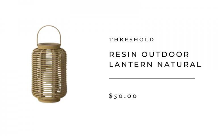Threshold Resin Outdoor Lantern Natural