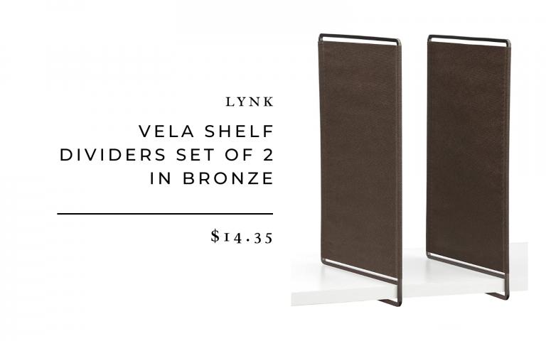 Lynk Vela Shelf Dividers Set of 2 in Bronze