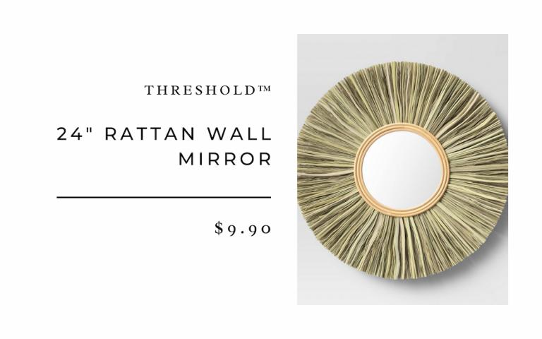 "Threshold™ 24"" Rattan Wall Mirror"