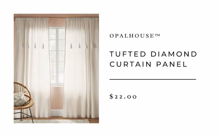Opalhouse™ Tufted Diamond Curtain Panel
