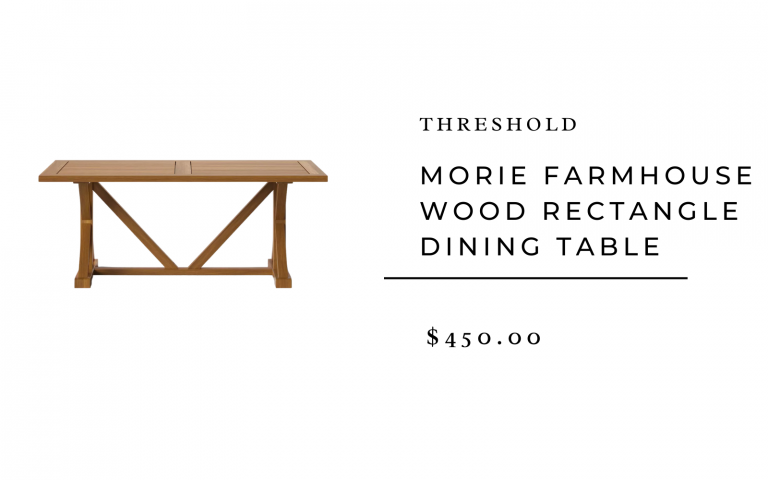 Threshold Morie Farmhouse Wood Dining Table