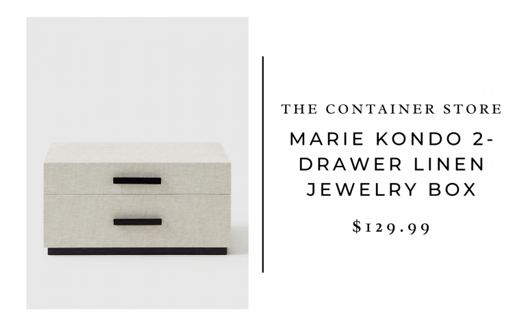 The Container Store Marie Kondo 2-Drawer Linen Jewelry Box