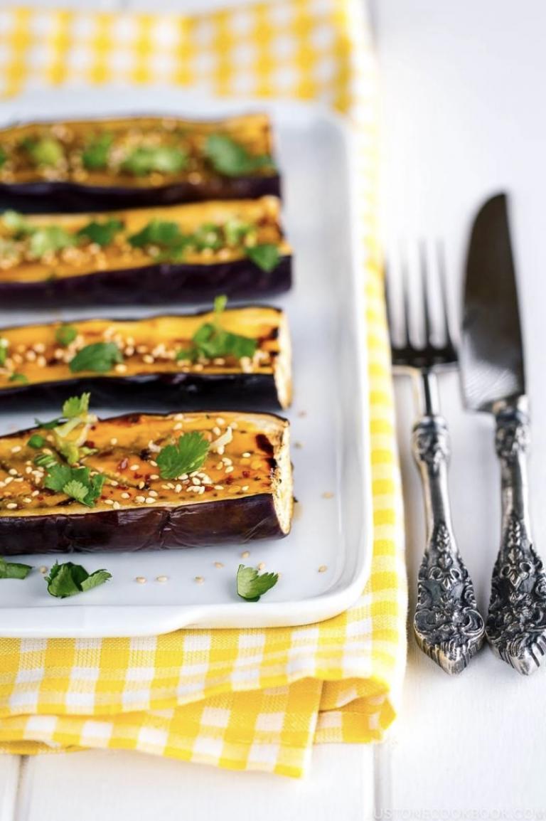 Miso Glazed Eggplant