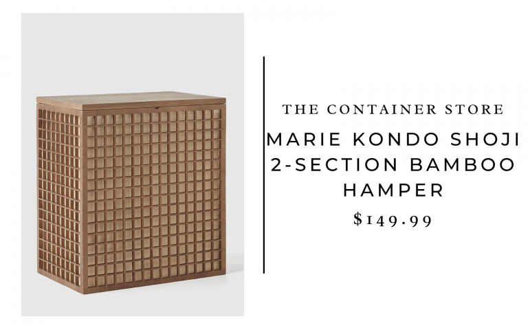 The Container Store Marie Kondo Shoji 2-Section Bamboo Hamper