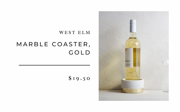 West Elm Marble Coaster, Gold