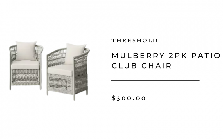 Threshold Mulberry 2pk Patio Club Chair