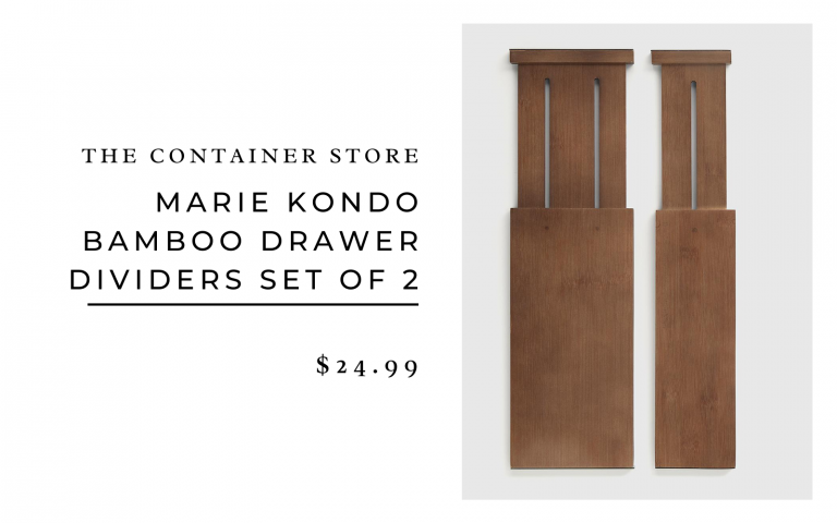 The Container Store Marie Kondo Bamboo Drawer Dividers Set of 2