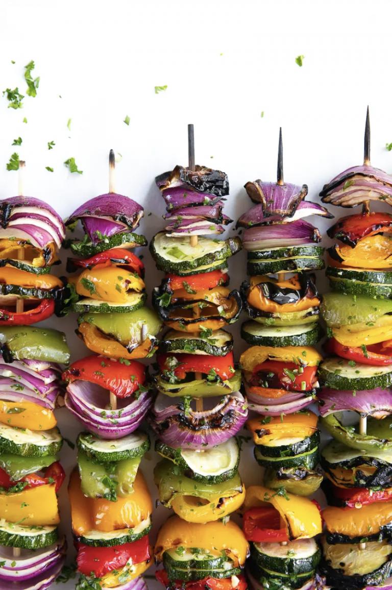 Easy Grilled Veggie Skewers