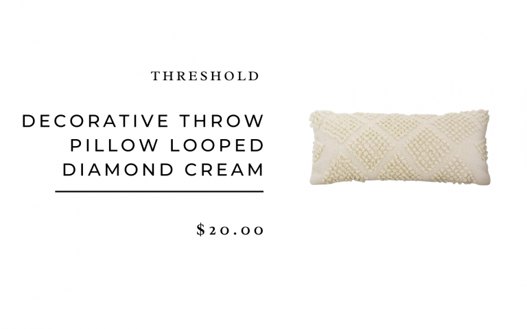 Threshold Decorative Throw Pillow Looped Diamond Cream