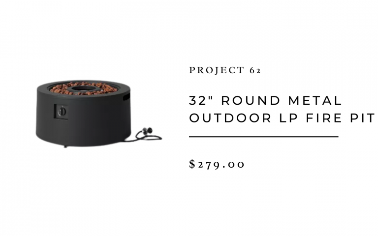 """Project 62 32"""" Round Metal Outdoor LP Fire Pit"""