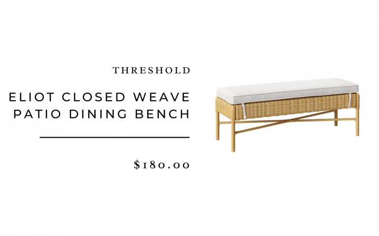 Threshold Eliot Closed Weave Patio Dining Bench