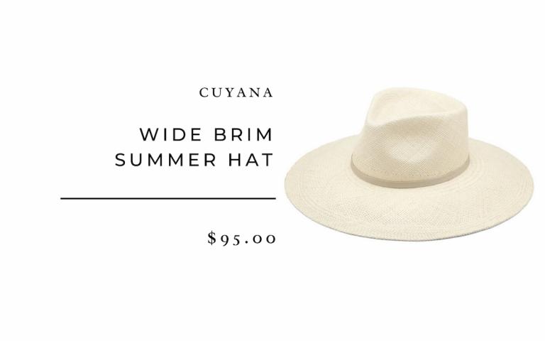 Cuyana Wide Brim Summer Hat